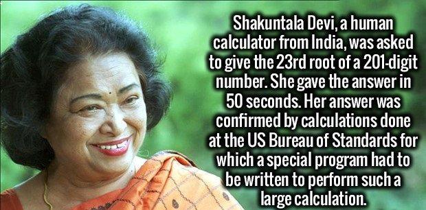 math skills human calculator
