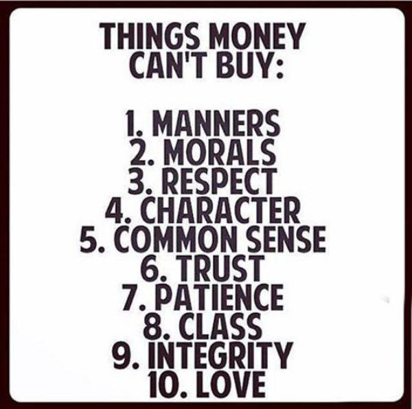 money can't buy morals