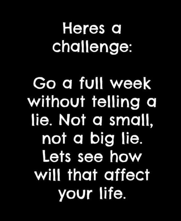 no lie week