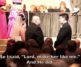 The Best Way To Give Away Your Daughter At Her Wedding [VIDEO]