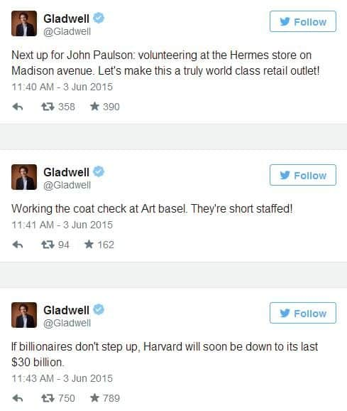 gladwell donation reaction 2