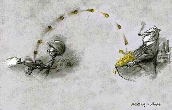 who benefits from war