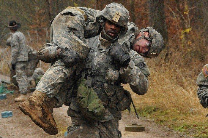 military men at work