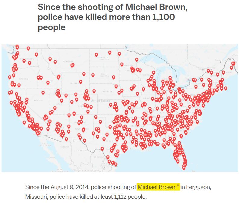 cops kill over 1000 since 2014