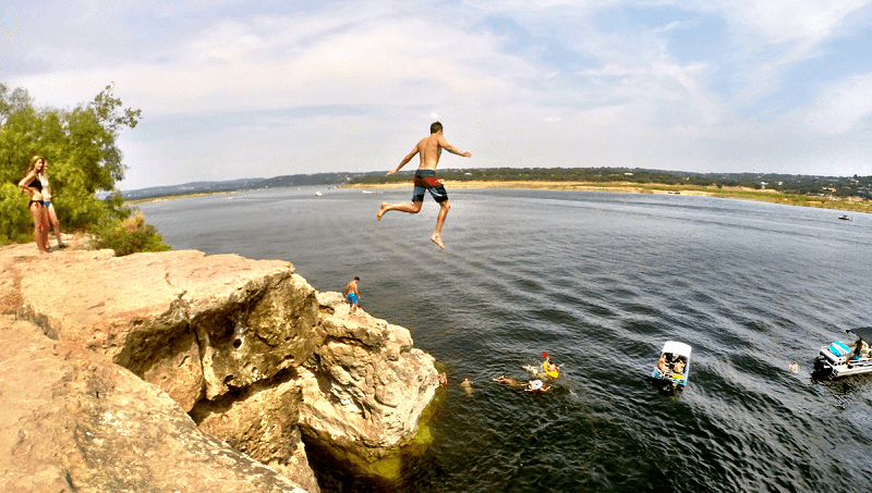 cliff jumping gopro