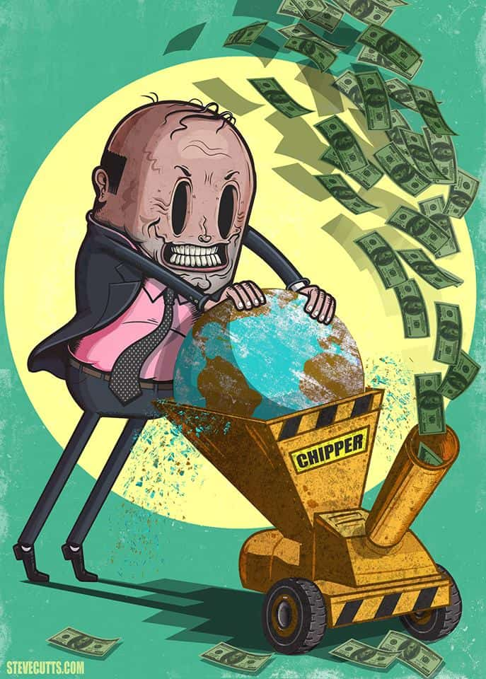 steve cutts - destroy the world