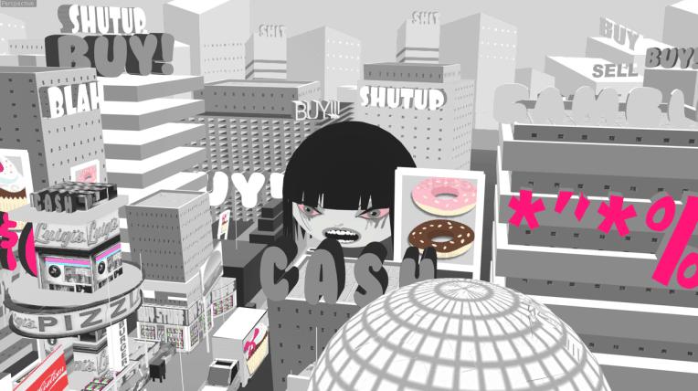 steve cutts - girl in city