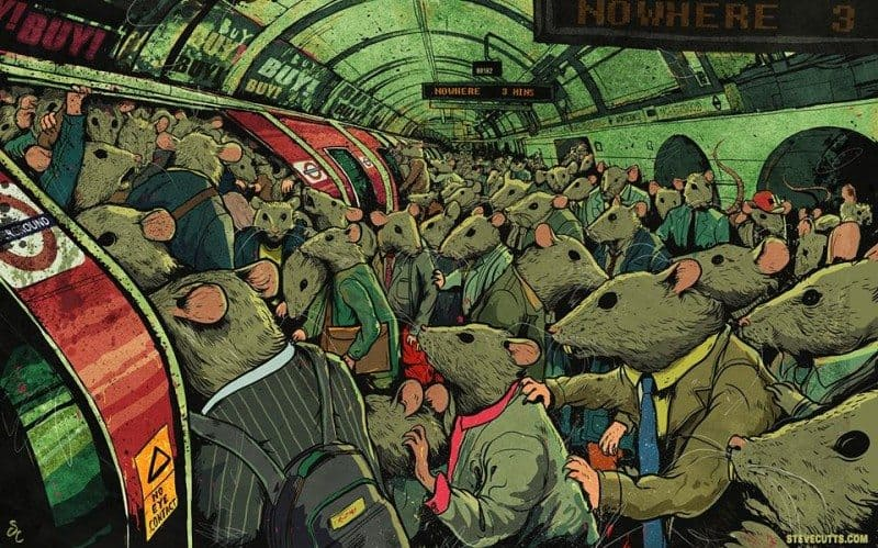 steve cutts - rat race