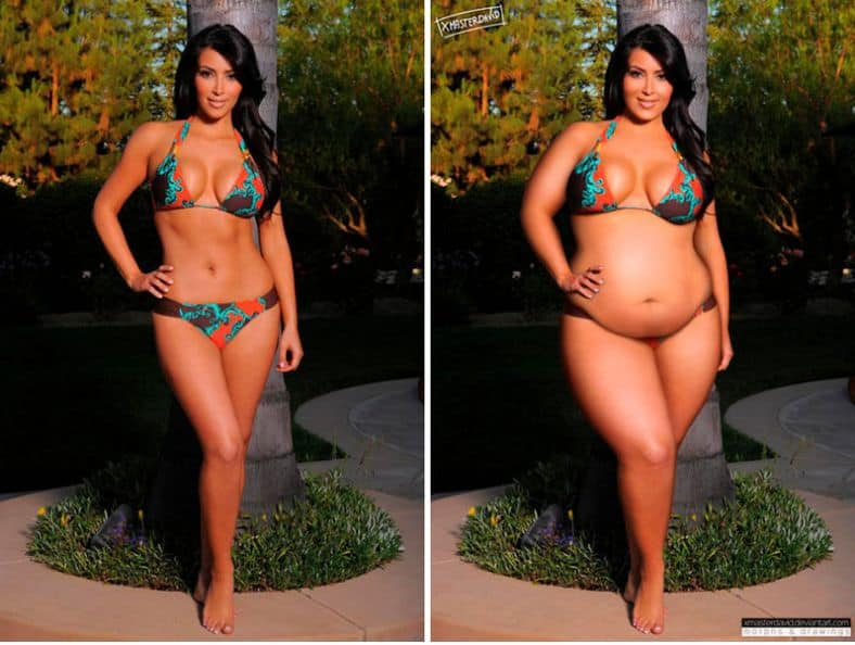 fake celebrities and photoshop distortion -